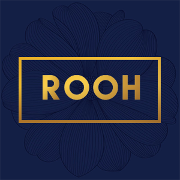 This is the restaurant logo for ROOH