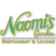 This is the restaurant logo for Naomi's Garden Restaurant & Lounge