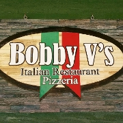 This is the restaurant logo for Bobby V's Italian Restaurant & Pizzeria