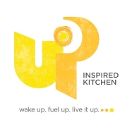 This is the restaurant logo for UP Inspired Kitchen