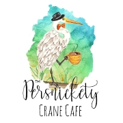 This is the restaurant logo for Persnickety Crane Cafe
