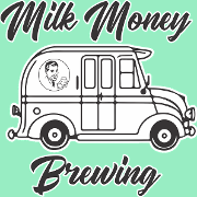 This is the restaurant logo for Milk Money Brewing
