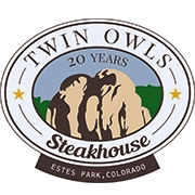 This is the restaurant logo for Twin Owls Steakhouse