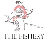 This is the restaurant logo for The Fishery