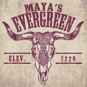 This is the restaurant logo for Maya's Cantina & Grill