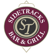 This is the restaurant logo for Side Tracks Bar & Grill