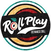 This is the restaurant logo for Roll Play Grill