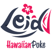 This is the restaurant logo for Lei'd Poke