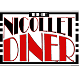 This is the restaurant logo for The Nicollet Diner and Muffin Top Cafe
