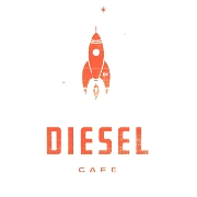 This is the restaurant logo for DIESEL CAFE