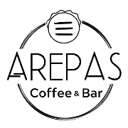 This is the restaurant logo for Arepas Coffee & Bar