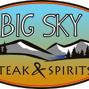 This is the restaurant logo for Big Sky Steakhouse