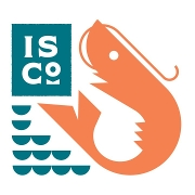 This is the restaurant logo for Island Shrimp Co.