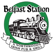 This is the restaurant logo for Belfast Station