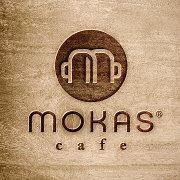 This is the restaurant logo for Mokas Coffee