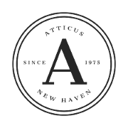 This is the restaurant logo for Atticus Bookstore Cafe