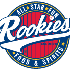 This is the restaurant logo for Rookies Food & Spirits