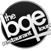This is the restaurant logo for BQE Restaurant and Lounge