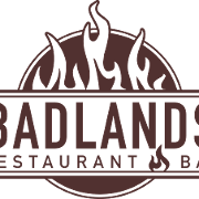 This is the restaurant logo for Badlands Restaurant & Bar