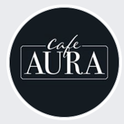 This is the restaurant logo for Cafe Aura