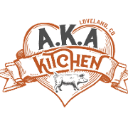 This is the restaurant logo for A.K.A. Kitchen