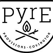 This is the restaurant logo for Pyre Provisions