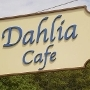 This is the restaurant logo for Dahlia Cafe