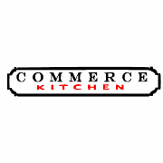 This is the restaurant logo for Commerce Kitchen