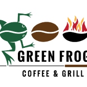 This is the restaurant logo for Green Frog Coffee Company