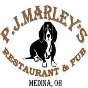 This is the restaurant logo for P.J. Marley's Restaurant & Pub