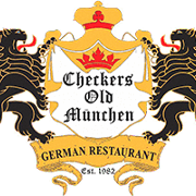 This is the restaurant logo for Checkers Old Munchen