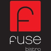 This is the restaurant logo for Fuse Bistro