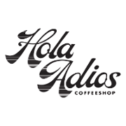 This is the restaurant logo for Hola Adios Coffeeshop