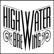 This is the restaurant logo for High Water Brewing