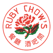 This is the restaurant logo for Ruby Chow's