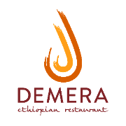 This is the restaurant logo for Demera Ethiopian Restaurant
