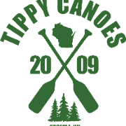 This is the restaurant logo for Tippy Canoes