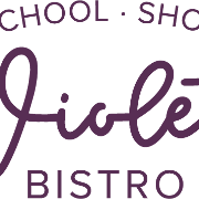 This is the restaurant logo for Violet Bistro