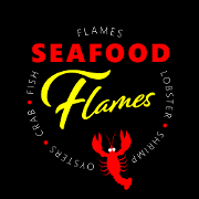 This is the restaurant logo for Flames Seafood Grill