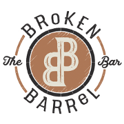 This is the restaurant logo for Broken Barrel Bar