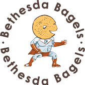 This is the restaurant logo for Bethesda Bagels