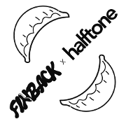 This is the restaurant logo for FINBACK Studio x Halftone x Dumpling Up x Invisible Force