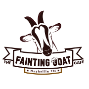 This is the restaurant logo for The Fainting Goat Cafe