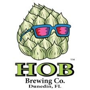 This is the restaurant logo for HOB Brewing Co.