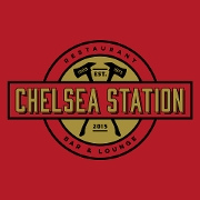 This is the restaurant logo for The Chelsea Station Restaurant