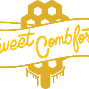 This is the restaurant logo for Sweet Combforts ft. Wingman Kitchen