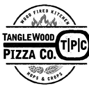 This is the restaurant logo for Tanglewood Pizza Company