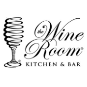 This is the restaurant logo for The Wine Room Kitchen and Bar