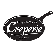 This is the restaurant logo for City Coffee and Creperie