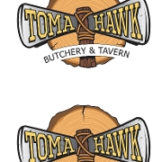 This is the restaurant logo for Tomahawk Butchery and Tavern
